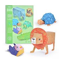 Набор для творчества из бумаги 3D животные оригами Mideer, фото 1