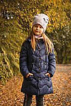 Комплект шапка + шарф для девочки NIKOLA Польша куколка LOL 4-7 лет весенний осенний демисезонный