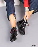 Демисезонные ботинки с глянцевой кожи, фото 2