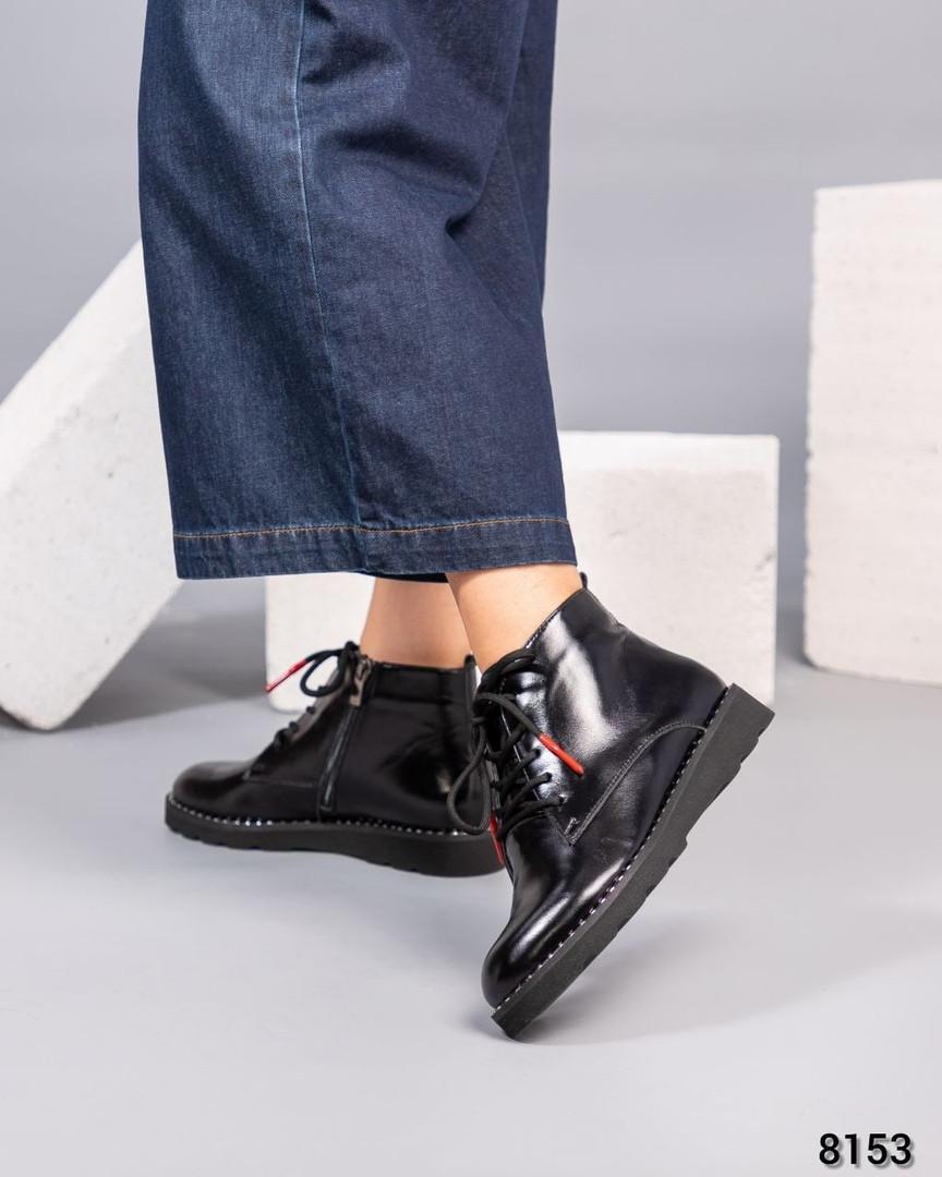 Демисезонные ботинки с глянцевой кожи