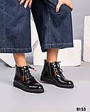 Демисезонные ботинки с глянцевой кожи, фото 3