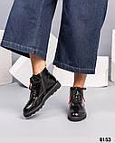 Демисезонные ботинки с глянцевой кожи, фото 4