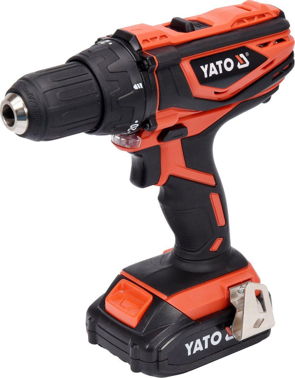 Аккумуляторный двухскоростной шуруповерт YATO YT-82780