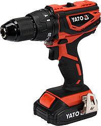 Двошвидкісний акумуляторний ударний шуруповерт YATO YT-82788