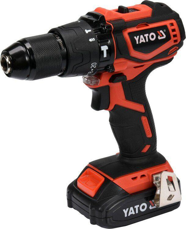 Аккумуляторный шуруповерт двухскоростной ударный YATO YT-82796