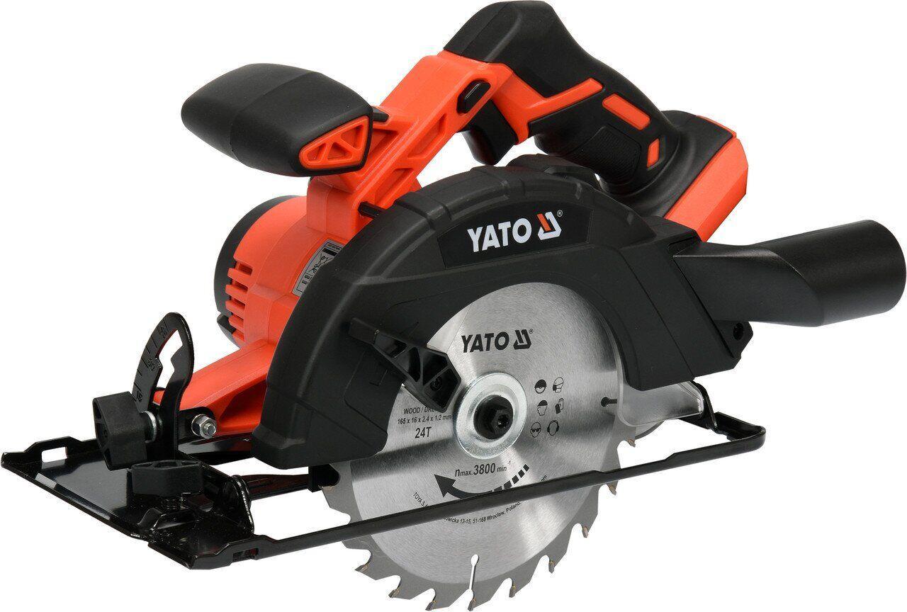 Аккумуляторная циркулярная пила YATO YT-82811