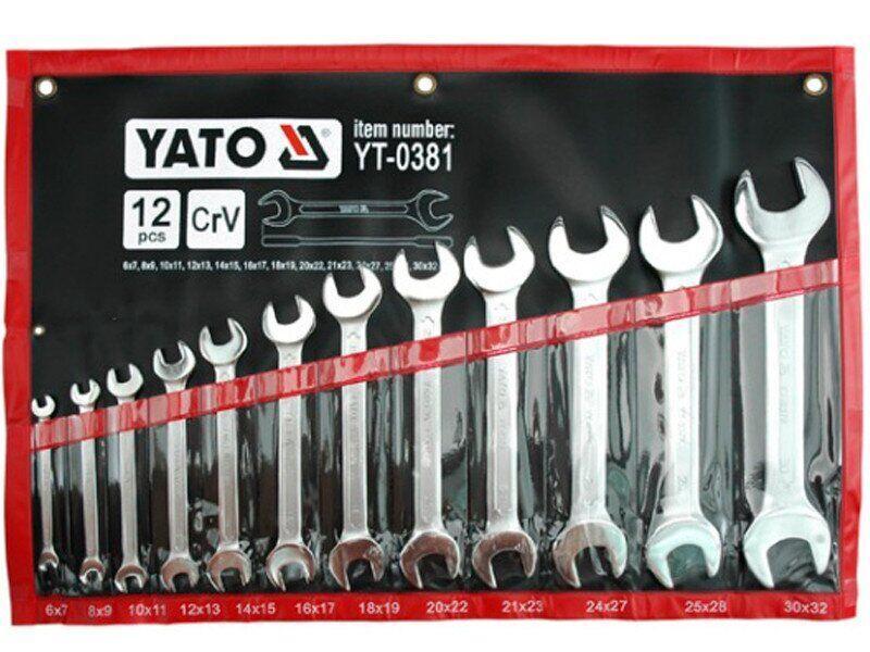 Набор гаечных рожковых ключей YATO YT-0381