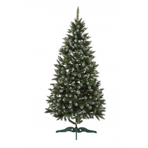 """Ялинка штучна """"Анастасія"""" зелена з білими кінчиками 1.20 м"""