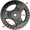 Набор 153 кг для силовых тренировок: грифы, гантели, чугунные диски (комплект 2), фото 2