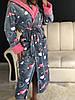 Женский теплый плюшевый халат для дома, фото 6