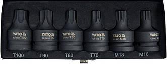 Набір ударних біт Torx/Spline 6 одиниць YATO YT-10653