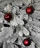 Куля новорічна темно-червона мікс D 3см (30мм), фото 7