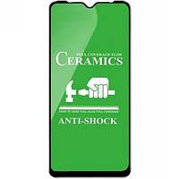 Защитное стекло-пленка Fiji Ceramics для Samsung Galaxy A10s (A107) черный Full Glue 0,26 мм в упаковке