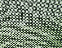 Коттон хлопок с эластаном бело зеленого цвета ромбики  HA 7, фото 1
