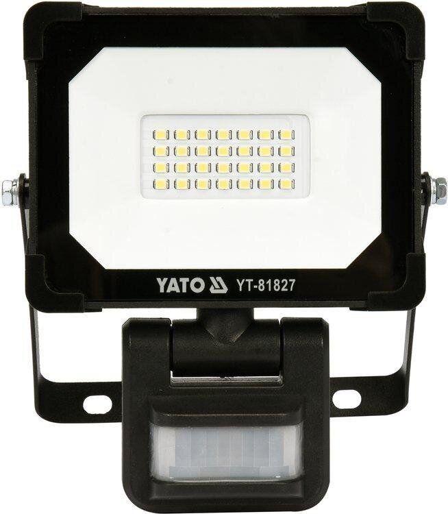 Светодиодный прожектор с датчиком движения SMD LED 20 Вт YATO YT-81827