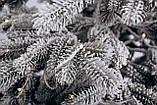 Ялинка штучна лита Засніжена + вмонтована гірлянда Ковалівська 2,3м, фото 3