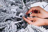 Ялинка штучна лита Засніжена + вмонтована гірлянда Ковалівська 2,3м, фото 4