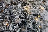 Ялинка штучна лита Засніжена + вмонтована гірлянда Ковалівська 2,3м, фото 5