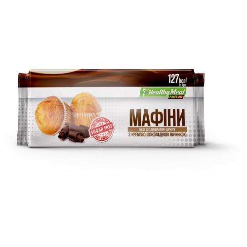 Power Pro Маффин с кремово-шоколадной начинкой (без сахара)