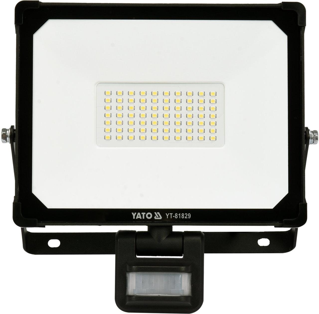 Светодиодный прожектор с датчиком движения SMD LED 50W YATO YT-81829