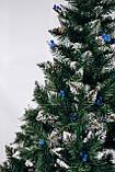 """Ялинка штучна """"Різдвяна"""" - шишки і калина (синя) 1.80 м, фото 2"""
