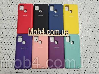 Брендовый чехол накладка Silicone Cover для Samsung (Самсунг) A21 S