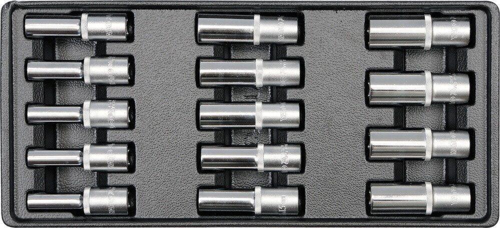 Вставка в інструментальний шафа з довгими головками 8-21мм YATO YT-5539