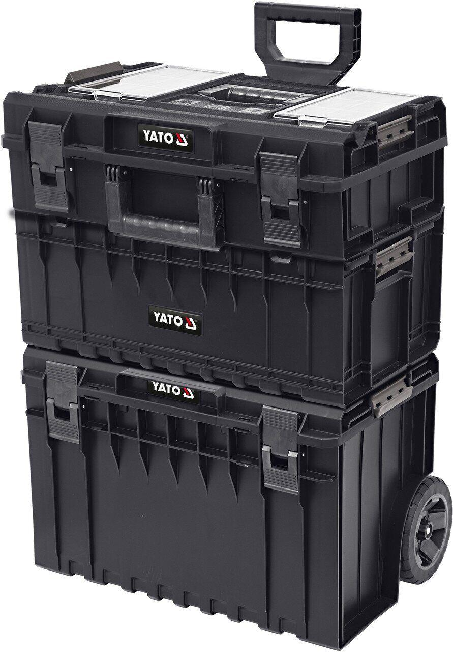 Набор ящиков для инструментов 3 шт. на колесах YATO YT-09161