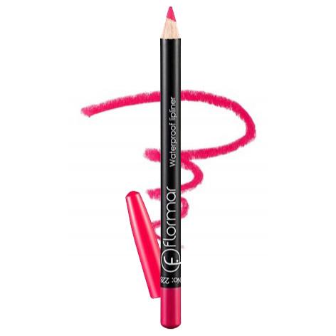 Карандаш для губ водостойкий Flormar Waterpoof Lipliner № 228 Saturated Pink (розовый) 1,7г