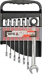 Набор ключей комбинированных с трещоткой YATO YT-0208