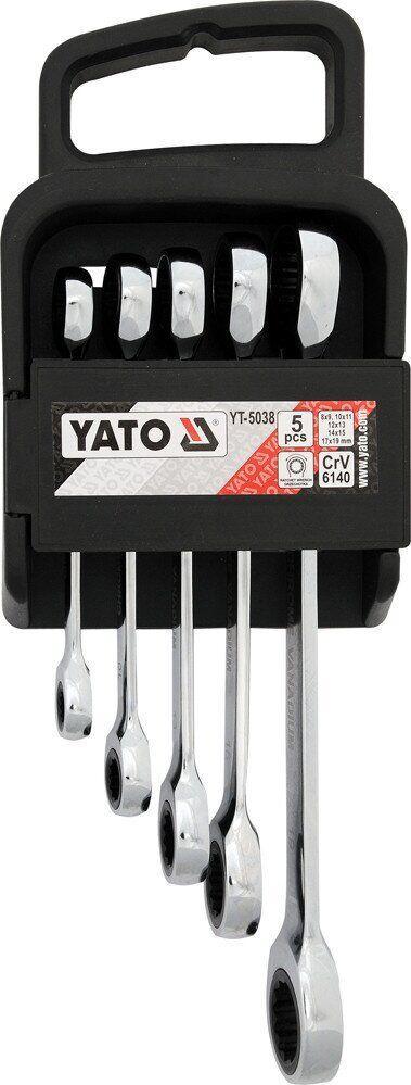 Набор ключей накидных профессиональных 8-19 мм YATO YT-5038