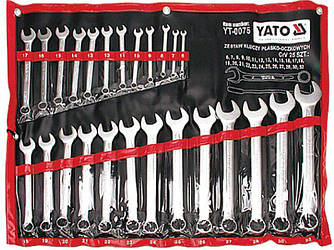 Набор ключей комбинированных YATO YT-0075