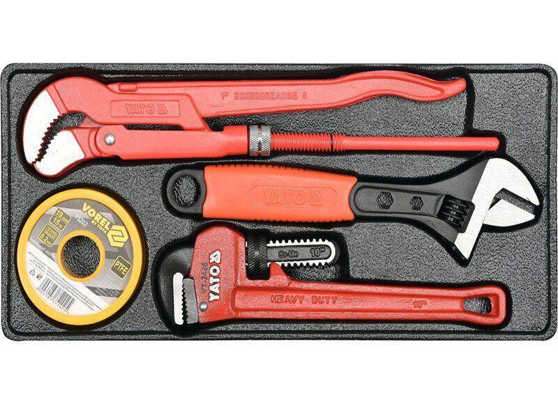 Набір з розвідними трубними ключами YATO YT-55480