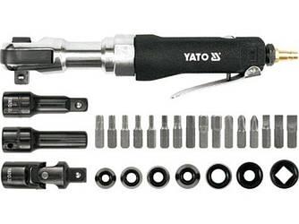 Трещотка пневматическая с набором головок YATO YT-0982