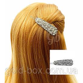 """Заколка для волос """"MIU miu"""" серебряная"""