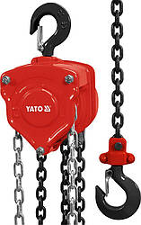 Таль ручна ланцюгова для вантажів до 1 тонни YATO YT-58951