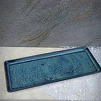 "Тарілка бірюзова з порцеляни прямокутна Kutahya Porselen ""Corendon"" 350х150 мм (NB3635)"