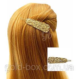 """Заколка для волос """"MIU miu"""" золотая"""