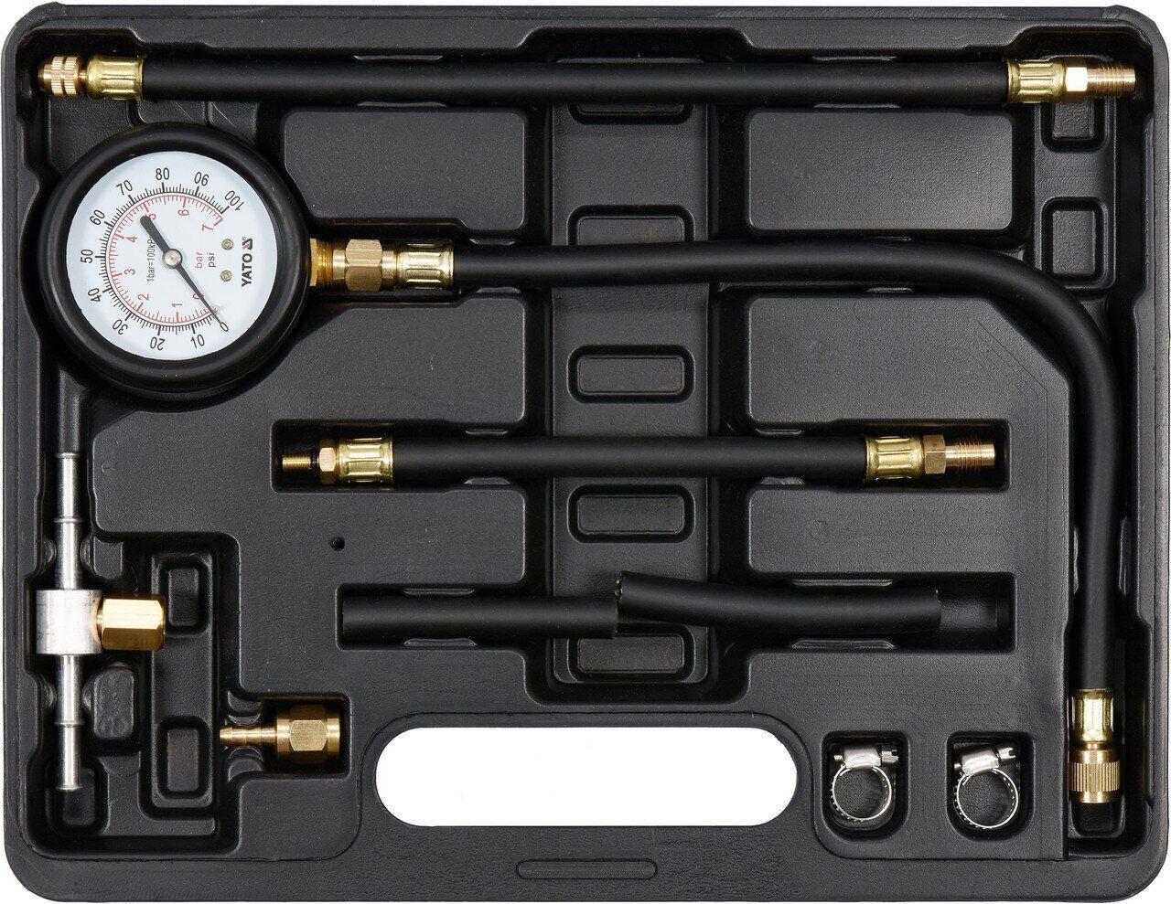 Прибор для измерения давления топлива 9 предметов YATO YT-73024