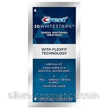 Відбілюючі смужки для зубів CREST 3D White Supreme FlexFit упаковка 1 пара. (6 кольорів)