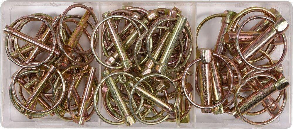 Набор шплинтов с кольцом 50 шт YATO YT-06787