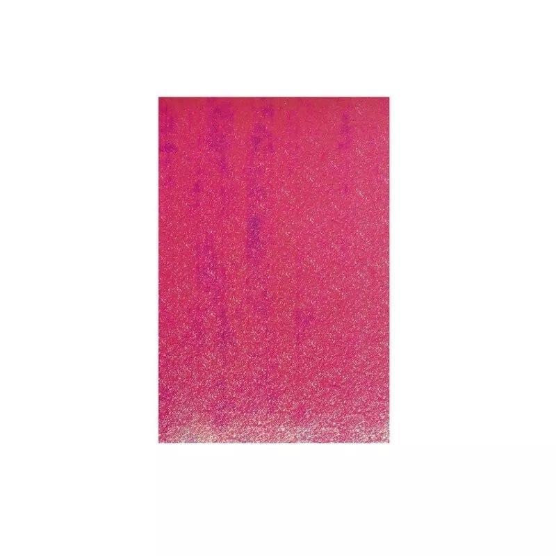 Фоамиран лазерный на клеевой основе Малиновый (20*30 см) 1,5 мм