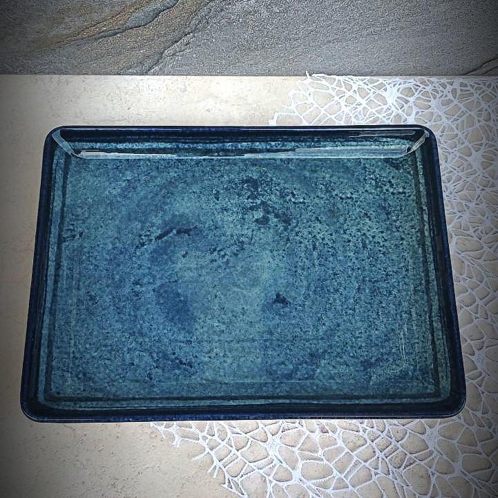 "Бірюзове велике прямокутне блюдо Kutahya Porselen ""Corendon"" 350х260 мм (NB3535)"