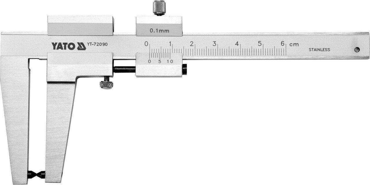 Штангенциркуль для тормозных дисков 160мм YATO YT-72090