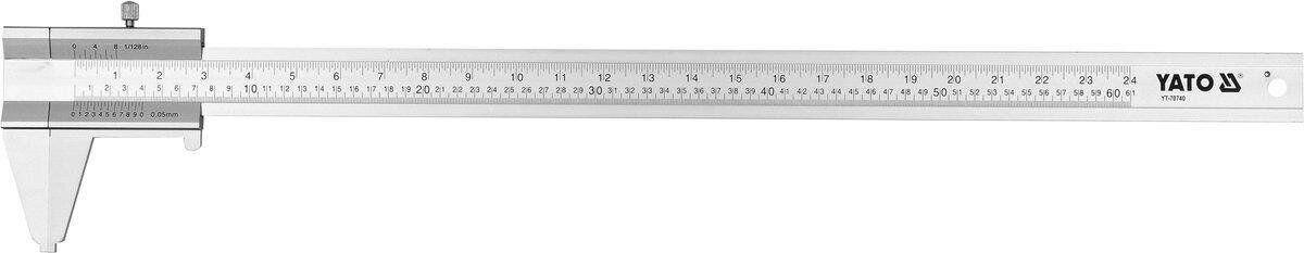 Штангенциркуль алюмінієвий 600 мм YATO YT-70740