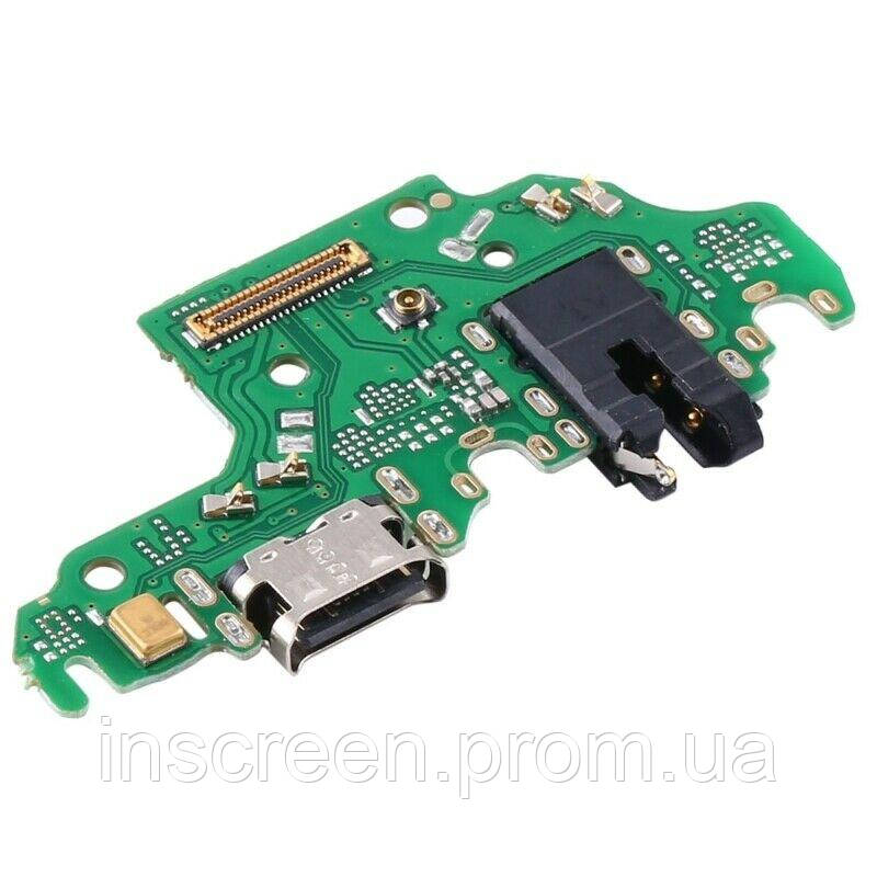 Плата зарядки Huawei P40 Lite 2020 JNY-L21A JNY-LX1 с разьемом зарядки, с разьемом наушников и микрофоном, фото 2