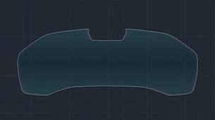 Захисне гібридне скло на приладову панель з камерою MATT BMW 8 M8 2019 (G16)