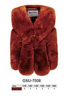 Безрукавка (жилетка) для девочек меховая оптом, Glo-Story, размеры 110-160 арт. GMJ-7508, фото 1
