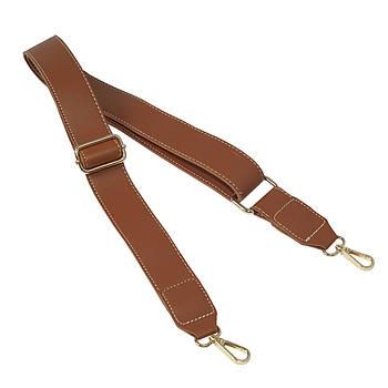 Ремень плечевой для сумки Браун, экокожа 81-133 см (ширина 40 мм)