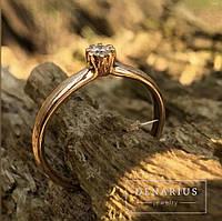 "Золота каблучка з діамантом ""Helen"" (розмір 16,5)"